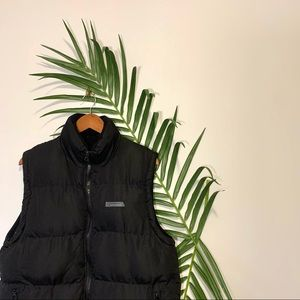 Nordic Seaside Black Puffer Down Quilted Vest